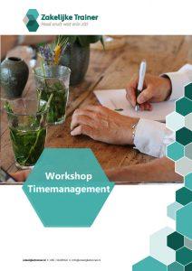 Brochure Workshop Timemanagement